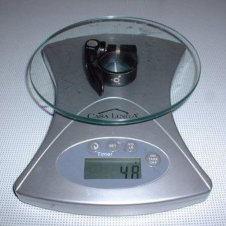 Gewicht Iridium Sattelklemme Sattelklemme (QR) 31,8mm