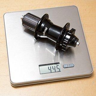 Gewicht SunRingle Nabe Abbah SOS 135mm/QR, 32-Loch