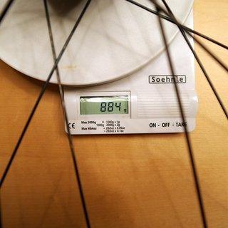 Gewicht Bontrager Systemlaufräder Rythm Pro Scandium HR, 135mm