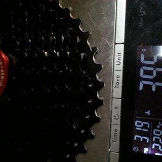 Gewicht Sunrace Kassette MX3 10 fach  11-42