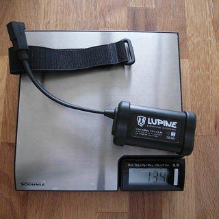 Gewicht Lupine Beleuchtung Hard Case Akku 2.5 Ah