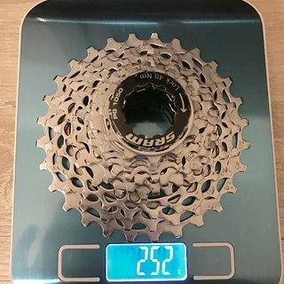 Gewicht SRAM Kassette PG1050  11-12-13-14-15-17-19-22-25-28