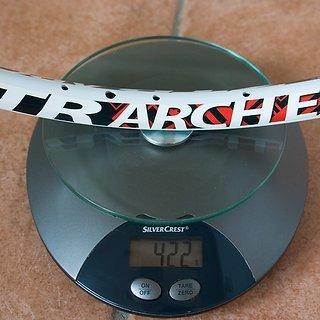 """Gewicht Notubes Felge ZTR Arch EX white 26"""", 559x21, 32 L"""