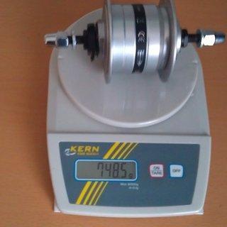 Gewicht Shimano Nabe DH-3N31-NT 32-Loch