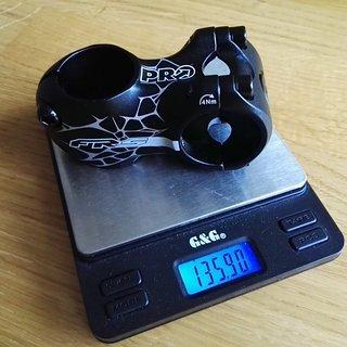 Gewicht Pro Parts Vorbau FRS Stem 31.8mm, 50mm, 5°