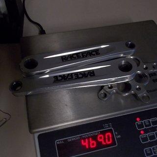 Gewicht Race Face Kurbel Turbine IB 175mm, 4-kant, 110/74