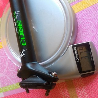 Gewicht Cube Sattelstütze Performance Post CPP 27,2mmx400mm