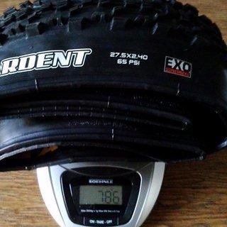 Gewicht Maxxis Reifen Ardent TR EXO MaxxPro 61-584 (27.5 x 2.4, 650B)