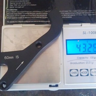 Gewicht Avid Scheibenbremsadapter Adapter IS >>> PM +60