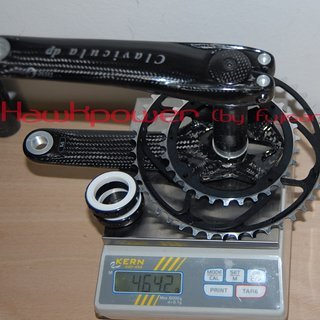 Gewicht THM-Carbones Kurbelgarnitur Clavicula MTB dp 175mm, 30/42Z
