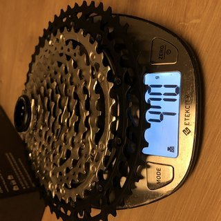 Gewicht Shimano Kassette XT 12 Fach 11-51
