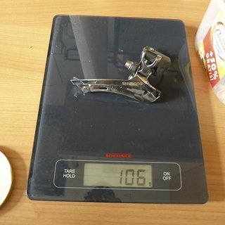 Gewicht Shimano Umwerfer FD-CX70 34,9 mm