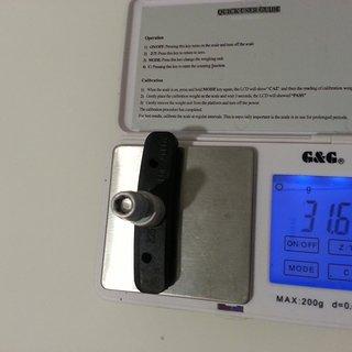 Gewicht Tektro Bremsbelag 828