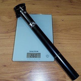 Gewicht M-Wave Sattelstütze M- Wave Sattelstütze 31,6mm x 350mm
