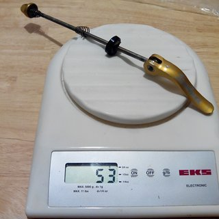 Gewicht Salsa Schnellspanner Flip-Off Edelstahl 135mm