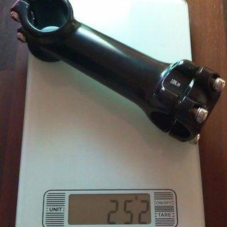 Gewicht No-Name Vorbau Ahead-Vorbau 31.8mm, 120mm, 6°