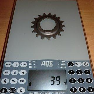 Gewicht SRAM Nabenschaltungen Ritzel 17Z