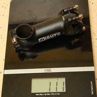 Gewicht Mighty Vorbau Superlite 31.8mm, 85mm, 10°