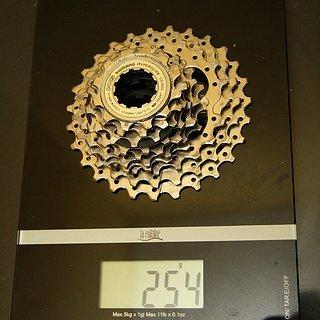Gewicht Shimano Kassette 105 CS-5600 10-fach, 12-27Z