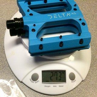 Gewicht Superstar Components Pedale (Platform) Delta Magnesium EVO Pedals - Titanachse 97*105*14mm