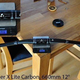 Gewicht Bontrager Lenker Race X Lite Carbon 31,8 x 660mm