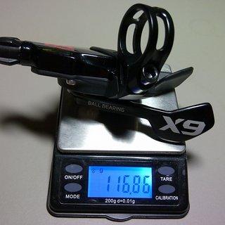 Gewicht SRAM Schalthebel X9 Trigger 10-fach