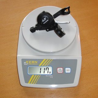 Gewicht Shimano Schalthebel XT SL-M770 9-fach