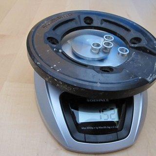 Gewicht Shimano Bashguard SLX FC-M665 36Z, 104mm