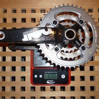 Gewicht Truvativ Kurbelgarnitur Noir 3.3 Team 175mm, 22/32/44Z