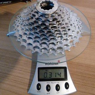Gewicht Shimano Kassette XT CS-M771 10-fach, 11-34Z