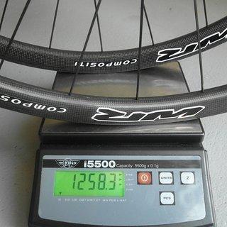 """Gewicht WR Compositi Systemlaufräder 29"""" Carbon-Clincher 29"""", VR: 100mm/QR + HR: 135mm/QR"""