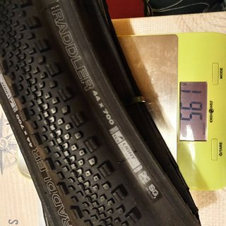 Gewicht WTB Reifen Raddler 44x700c