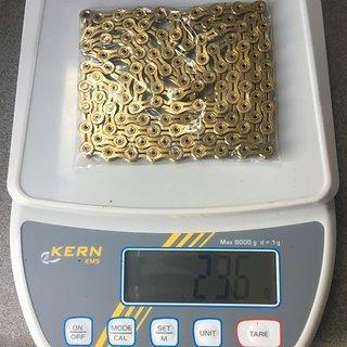 Gewicht KMC Chain Kette X11SL Gold 114