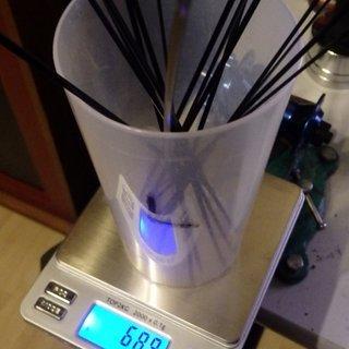 Gewicht Sapim Speiche CX Ray 254mm, 16 Stück