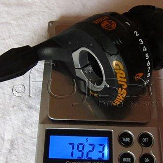 Gewicht SRAM Drehschaltgriff Grip Shift Plasma 9-fach