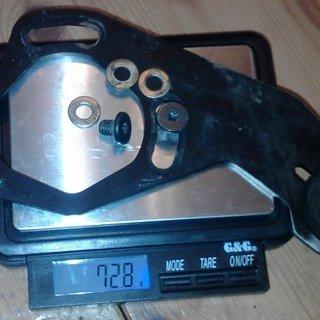Gewicht e-thirteen Kettenführung Heim2 32-40Z, ISCG-05