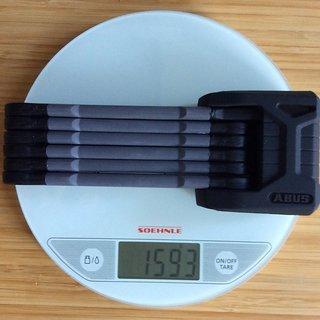 Gewicht Abus Fahrradschloss Bordo Granit X-Plus 6500/85 85cm
