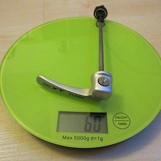 Gewicht Shimano Schnellspanner XT 775er-Serie 100mm