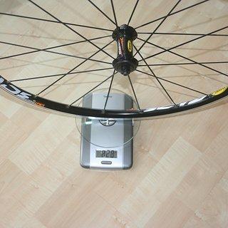 Gewicht Mavic Systemlaufräder Crossride UB VR, 100mm/QR