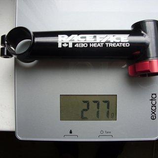 Gewicht Race Face Vorbau EX 25.4mm, 130mm, 0°