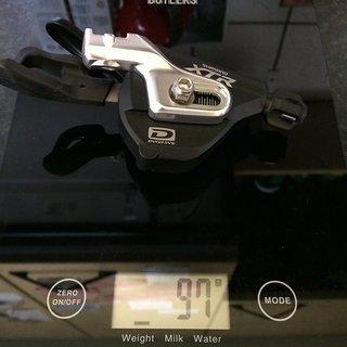 Gewicht Shimano Schalthebel XTR SL-M980-B 10-fach