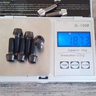 Gewicht Tuning Pedals Schrauben, Muttern konische Inbusschraube M6x18, Ti