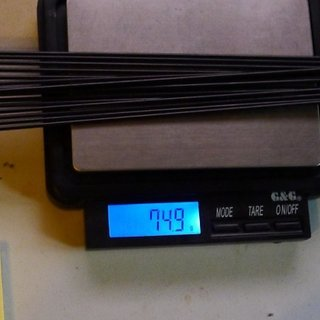 Gewicht Sapim Speiche D-Light 254mm, 16 Stück