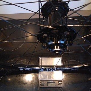 """Gewicht Novatec Systemlaufräder D711SB - DT Swiss X 392 - Sapim Laser 29"""", VR, 100mm/QR"""