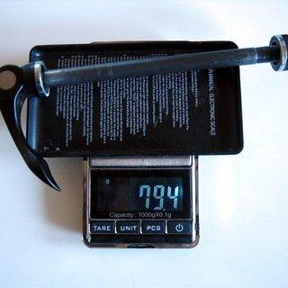 Gewicht Specialized Schnellspanner 9mm DT RWS alloy QR 9mm QR