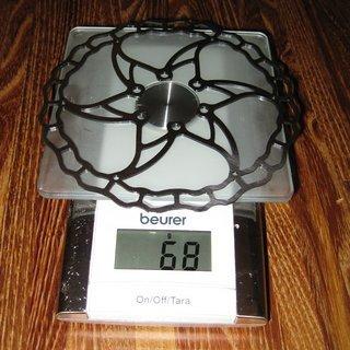 Gewicht Ashima Bremsscheibe AI2 160mm