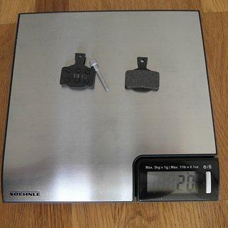 Gewicht Magura Bremsbelag Performance 7.1