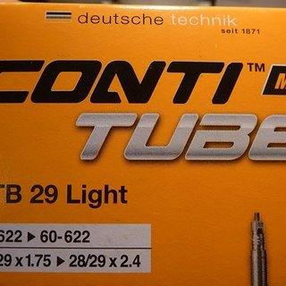 Gewicht Continental Schlauch MTB 29 Light SV/28x1.75-2.5""