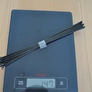 Gewicht Sapim Speiche Laser 273mm, 32 Stück