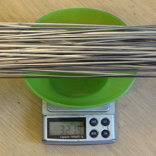 Gewicht Sapim Speiche CX Ray 286mm, 69 Stück